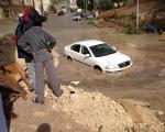 يافة الناصرة: غرق سيارات بعشر دقائق من المطر !