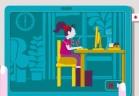 الجلسة الصحية لاستخدام الحاسوب في المنزل