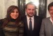 بالصور.. وليد توفيق مع نجوى كرم وعاصى الحلانى فى منزل الوزيرة ليلى الصلح