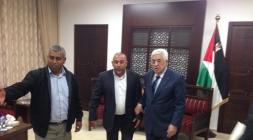 ابو عرار يلتقي الرئيس الفلسطيني محمود عباس