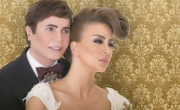 زواج مزين المشاهير جو رعد والممثلة السورية ميرنا شلفون