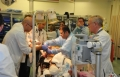 نقل مصابين سوريين إلى مستشفى نهريا