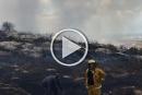 ابو سنان: حريق هائل بحقل من الاعشاب دون اصابات