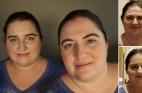 صور: امرأة تلتقي شبيهتها لأول مرة