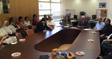 القدس : ادارة المدارس الاهلية المسيحية تجتمع مع أعضاء كنيست