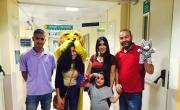 بمناسبة يوم الطفل العالمي مؤسسة انماء في زيارة اطفال مرضى السرطان