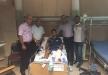 لجنة امناء الوقف الاسلامي في مسجد الجزار يقومون بزيارة للشاب محمود محمد جمالي الذي اصيب ليلة الحريق الذي نشب في مسجد الجزار