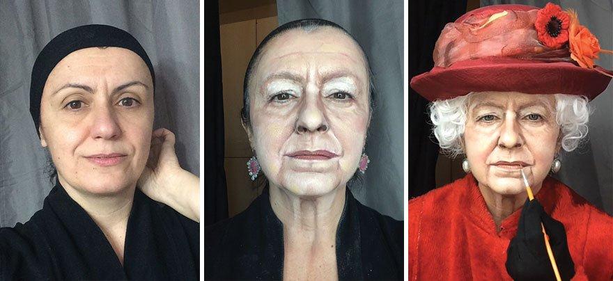 فنانة تُحول نفسها إلى شخصيات مشاهير مستخدمة المكياج