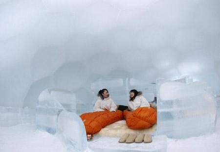 صور من فندق الثلج