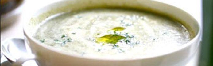 شوربة الجبن والبقدونس