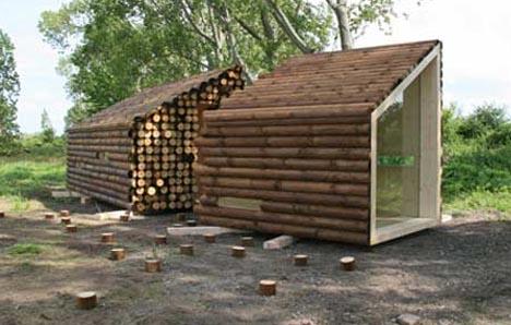 صناعة بيوت خشبية غير تقليدية